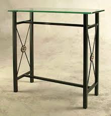 black wrought iron furniture. Small Wrought Iron Console Table With Glass Black Furniture T