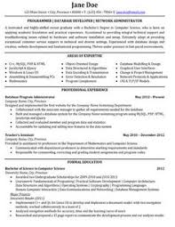junior programmer resume