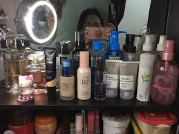 these are the skin care makeup and fragrance that i reach out for the most if not all as you can see i had everything placed in front of my vanity for