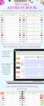 Printable Contact List Beauteous Address Book Printable Contact Page Address Page Contacts Etsy