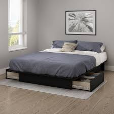 queen platform bed frame with drawers. Interesting With South Shore Gramercy FullQueen Platform Bed 54 To Queen Frame With Drawers