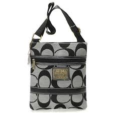 Coach Legacy Swingpack In Signature Small Grey Crossbody BagsAVA