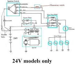 24v starter wiring diagram 24v image wiring diagram internal wiring of bj40 bj42 hj42 glow relay manual glow page on 24v starter wiring diagram