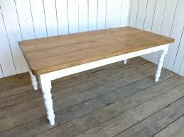 white table with wood top bespoke rounded corner plank table wood white legs dining wooden top