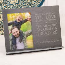 engraved slate chalkboard photo frame when someone you love