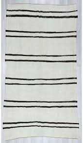 black and white striped rugs blue rug 1174s vintage turkish