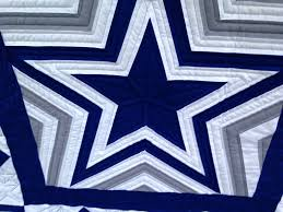 Dallas Cowboys Quilting Eye Candy | The Quilting Queen Online & Look closely and you'll see the football quilted in this block. Adamdwight.com