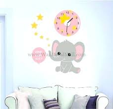 elephant wall decals nursery clock of baby elephant wall decals nursery room