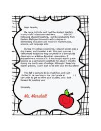 Example Letter To Parents From Student Teacher