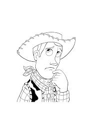 Toy Story Woody Aan Het Denken Toy Story Kleurplaten Kleurplaatcom