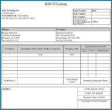 excel bill blank bill of lading in excel format 357