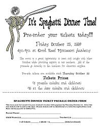 Spaghetti Dinner Ticket Template Spaghetti Dinner Ticket Presale