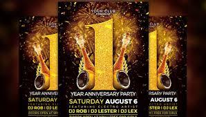 Anniversary Flyer Template 29 Free Premium Download