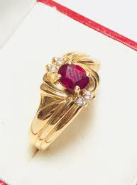 Ruby Stone Gold Ring Design Gorgeous 14k Gold Ruby Ring In Yellow Gold Natural Ruby