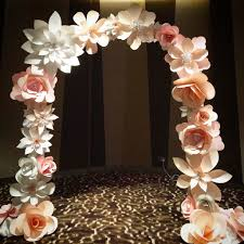 Paper Flower Archway Paper Flower Arch Major Magdalene Project Org