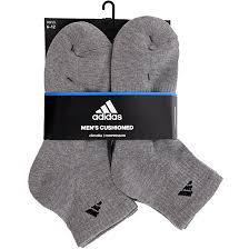 adidas quarter socks. adidas men\u0027s athletic quarter socks (6 pack), heather grey/black, shoe size 6-12: amazon.ca: sports \u0026 outdoors 3