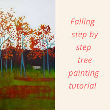 falling acrylic and mixed a step by step tree painting tutorial by sandrine pelissier