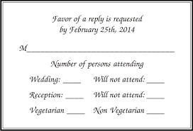 Response Cards Size Rsvp Wedding Invitation Cards Wordings India Parekh Cards