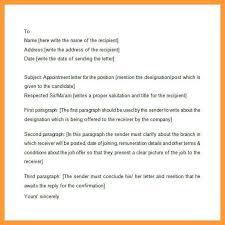 How To Write Appointment Letter 8 9 Formet Of Joining Letter Aikenexplorer Com