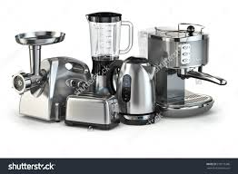 Of Kitchen Appliances Metallic Kitchen Appliances Blender Toaster Coffee Stock