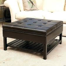 rustic leather ottoman table large round storage coffee inspirational distressed ottomans home design inspiratio