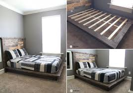 DIY wood platform bed
