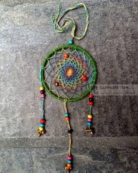 Dream Catcher Without Feathers 100CM GREEN DREAM CATCHER WITHOUT FEATHER Handmade Handicraft 1