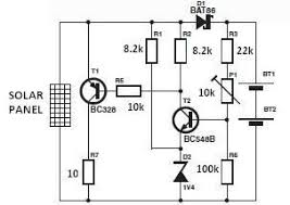 solar charger circuit diagram electronics a simple solar charger circuit can be constructed using this circuit diagram the nominal voltage of the solar charger circuit module is