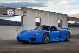 porsche 918 spyder blue. voodoo blue porsche 918 spyder with hre p101 in brushed dark clear performance wheels