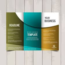 Trifold Brochure Examples Tri Fold Brochure Template Vector