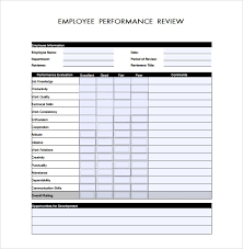 Simple Employee Review Sample Employee Performance Review Template 8 Free