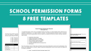 School Field Trip Permission Form Template Free Field Trip And School Permission Forms Templates