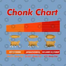 Chonk Chart Poster Fat Cat Meme Chonk Chart Funny Pet Lover Gift