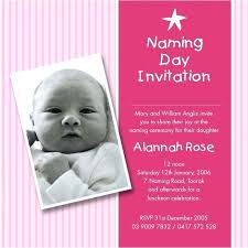 christening invitation template free luxury sle for baby naming ceremony templates card