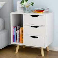 bedside table cabinets luxury white 3