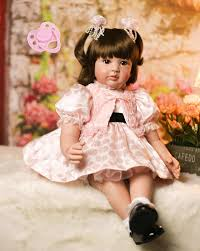 <b>60cm Silicone Reborn Baby</b> Doll Toys Like Real 24inch Vinyl ...