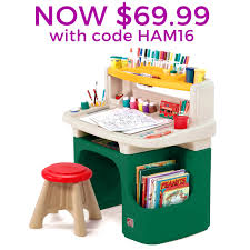 furnitureravishing art master activity desk desks step child cute artistic kids activity desk wstoolstorage binspaper roll
