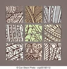 Intricate Patterns Delectable Set Of Four Vector Pastel Intricate Patterns Doodle Zentangle