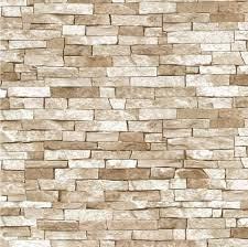 3D Effect Brick Wallpaper Beige Natural ...