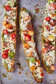 easy dinner ideas for company. french bread pesto chicken pizza easy dinner ideas for company