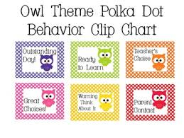 Owl Behavior Clip Chart Owl Theme Polka Dot Behavior Clip Chart Behavior Clip