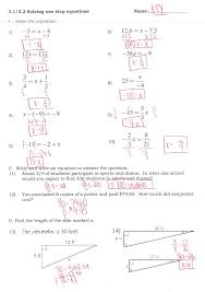 sweet multi step equations with variables on both sides worksheets worksheet answers literal equati multi step