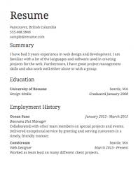 Simple Job Resume Template Fascinating Simple Job Resume Sample Of Examples Format In Example A Famous