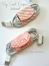 tutorial diy cord keeper from fabric ss