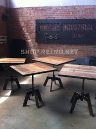 Industrial Counter Height Dining Table Adjustable Height Is A Great Idea Vintage Industrial Cafe Table