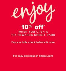 tjx rewards credit card t j ma