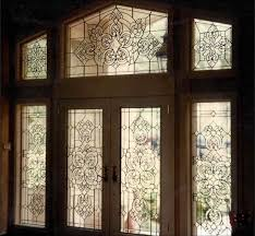 leaded beveled glass entrance dramatic