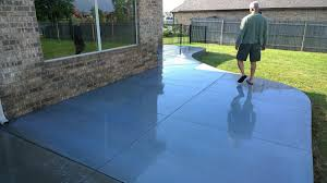 blue stained concrete patio. Stained Concrete Back Patio Oklahoma City Blue R