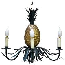 painted pineapple chandelier france circa 1950s