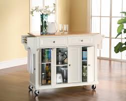 Kitchen Cart With Doors Crosley Kitchen Cart Island By Oj Commerce Kf30001ewh 36900